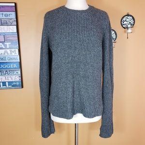 Ann Taylor Gray Crew neck wool Oversized sweater